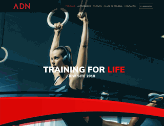 crossfitadn.com.ar screenshot