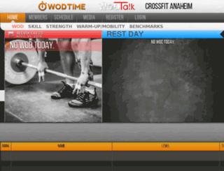 crossfitanaheim.wodtime.com screenshot