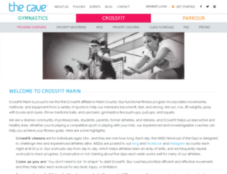 crossfitmarin.com screenshot