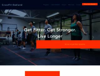 crossfitoakland.com screenshot