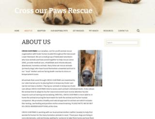 crossourpawsrescue.com screenshot