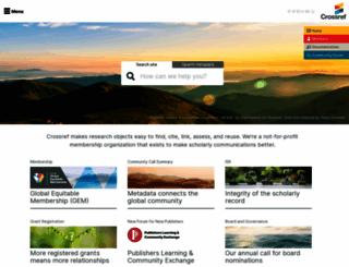 crossref.org screenshot
