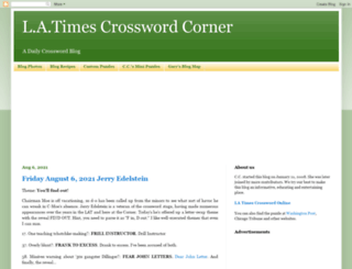 crosswordcorner.blogspot.com screenshot