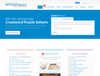 crosswordgiant.com screenshot