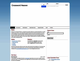 crosswordheaven.net screenshot
