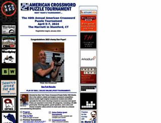 crosswordtournament.com screenshot