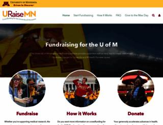 crowdfund.umn.edu screenshot