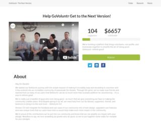 crowdfunding.govoluntr.com screenshot