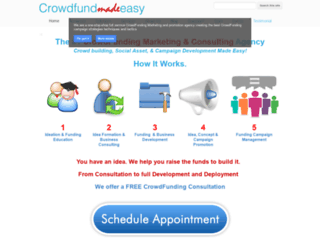 crowdfundmadeeasy.com screenshot