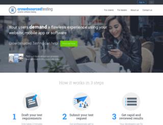 crowdsourcedtesting.com screenshot