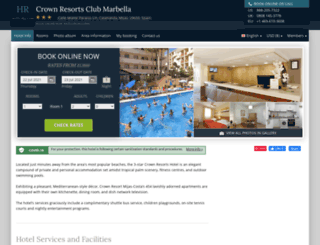 crown-resorts-mijas.hotel-rez.com screenshot
