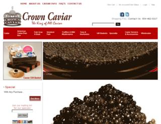 crowncaviar.com screenshot