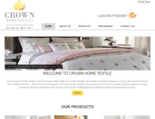 crownhome-textile.com screenshot