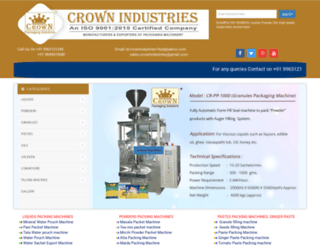 crownindustries.co.in screenshot