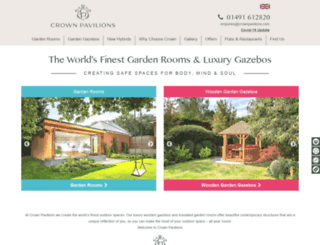 crownpavilions.com screenshot