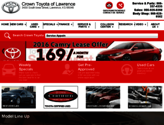 crowntoyotaoflawrence.calls.net screenshot