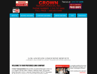 crowntransportationla.com screenshot