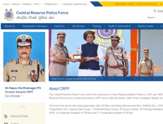 crpf.nic.in screenshot