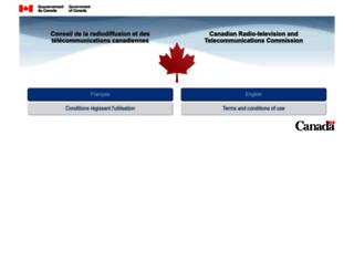 crtc.gc.ca screenshot