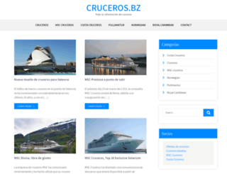 cruceros.bz screenshot