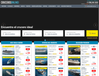 crucerosonline.com.mx screenshot