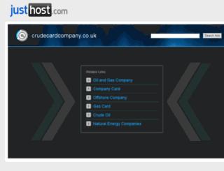 crudecardcompany.co.uk screenshot