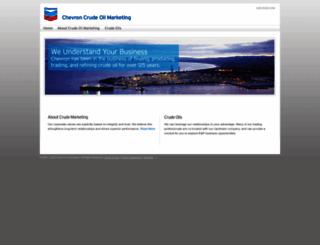 crudemarketing.chevron.com screenshot