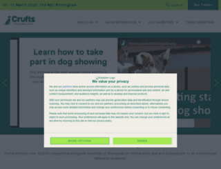 crufts.org.uk screenshot