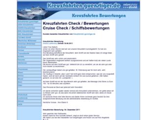 cruise-check.de screenshot
