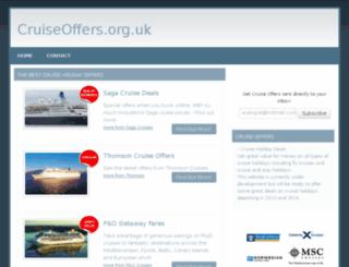 cruiseoffers.org.uk screenshot