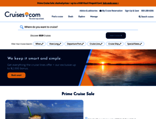 cruises.com screenshot