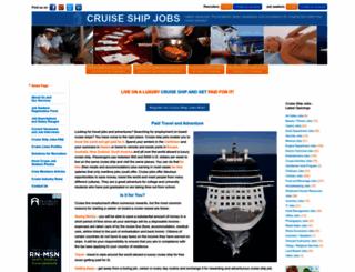 cruiseshipjob.com screenshot