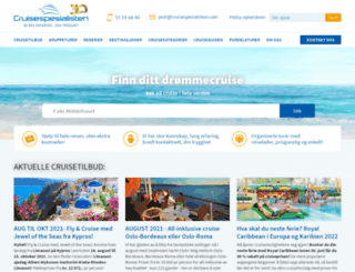 cruisespesialisten.com screenshot