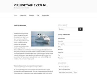 cruisetarieven.nl screenshot