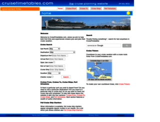 cruisetimetables.com screenshot