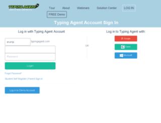 crump.typingagent.com screenshot