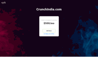 crunchindia.com screenshot