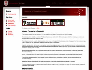 crusaderssquash.co.za screenshot