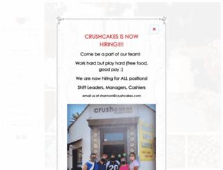 crushcakes.com screenshot