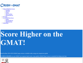 crushthegmatexam.com screenshot