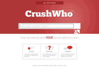 crushwho.com screenshot
