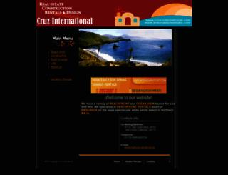 cruz-international.com screenshot