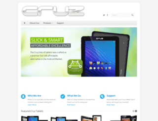 cruztablet.com screenshot