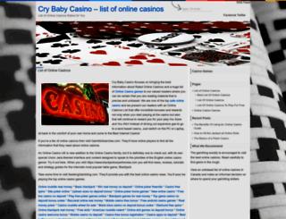 crybabycasino.com screenshot