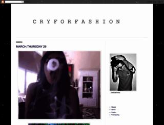 cryforfashion.blogspot.com screenshot