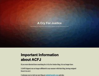 cryingoutforjustice.com screenshot