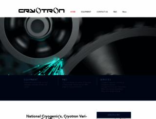 cryotron.com screenshot