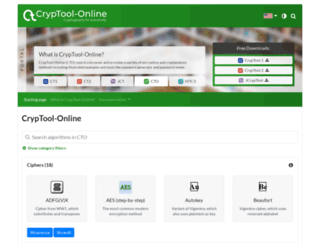 cryptool-online.org screenshot