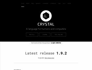 crystal-lang.org screenshot