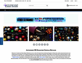 crystalandglassbeads.com screenshot